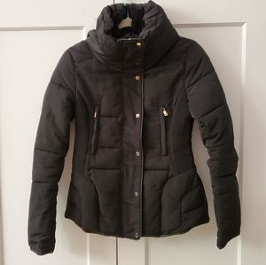 Zara Fitted Short Anorak Puffer Jacket